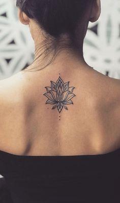 Tattoo Lotus Flower Mandala Tatoo Ideas - New Ideas Yoga Tattoos, Spine Tattoos, Small Wrist Tattoos, Body Art Tattoos, Small Tattoo, Circle Tattoos, Bird Tattoos, Trendy Tattoos, Cute Tattoos