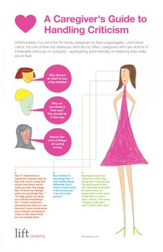 A Caregiver's Guide to Handling Criticism Infographic