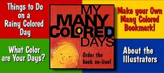 """Dr. Seuss' """"My Many Colored Days."""" Use with mood music and colored scarves."""