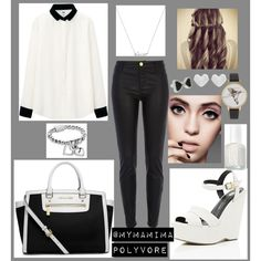"""Black and White"" by mymamima on Polyvore"
