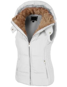 Keep yourself cozy and well protected in this fully lined padded puffer jacket vest with hoodie. Offering maximum warmth through out the entire day, this jacket still keeps you on trend. This puffer v
