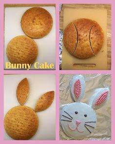 How to make a bunny cake cake decorating recipes kuchen kindergeburtstag cakes ideas Birthday Cake Cookies, Bunny Birthday Cake, Easter Bunny Cake, Bunny Party, Birthday Cake Smash, Easter Treats, Bunny Cakes, Easter Cake Easy, Cute Easter Desserts