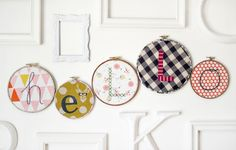 Ideas Embroidery Hoop Letter For 2019 Diy Embroidery Machine, Embroidery Hoop Crafts, Modern Embroidery, Embroidery Art, Cross Stitch Embroidery, Embroidery Patterns, Embroidery Techniques, Scrap, Cross Stitching