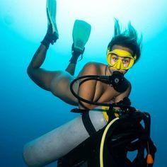 Scuba Girl, Scuba Diving, Cat Ears, Underwater, Naked, Sexy, Women, Girls, Outfits