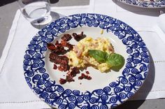Eggs, ham, and dried/fried pepper