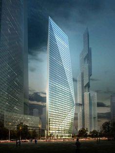Harmony Tower, Korea I Yongsan Business District Tower, Seoul - design by Studio Daniel Libeskind