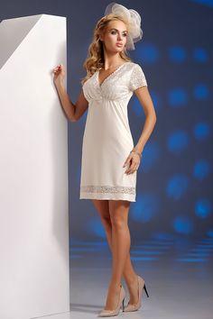 Donna White Lace Trim Sleepwear.