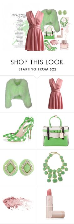 """PRIVEE"" by grettelcabrera on Polyvore featuring moda, By Terry, Yves Salomon, Reed Krakoff, Replica, Kenneth Jay Lane, Lipstick Queen y Burberry"