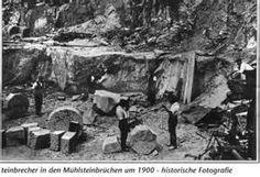 quarrying millstones in Jonsdorf - 1900