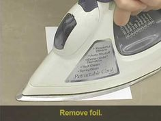 Stampee.net - Apply Stamp-N-Foil with a Household Iron - YouTube