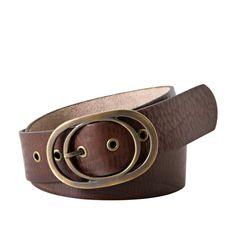 Vintage Oval Buckle Belt