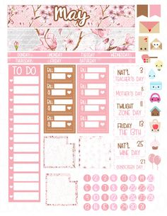 This is a set of printable stickers. The stickers are sized to fit the Erin Condren Life Planner monthly view for February. This will be available