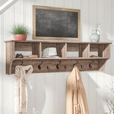 Add some rustic modern farmhouse gorgeousness to any room in your home instantly with a rustic coat rack. An extremely versatile farmhouse decor item because a coat rack is not just a coat rack! Coat Rack With Storage, Diy Coat Rack, Rustic Coat Rack, Coat Rack Shelf, Wall Mounted Coat Rack, Hanging Coat Rack, Coat Hooks With Shelf, Coat Rack With Bench, Diy Coat Hooks