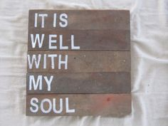 Beautiful sign quoting a beautiful hymm