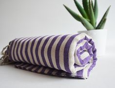 Bathstyle Turkish BATH Towel Peshtemal  Purple No2 by bathstyle, $24.50