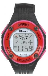 LED Digital Watch with Calendar, 30m Water Resistance Red for Women. Item No. : 55559 Price : $4.99 Category : Sport Watches.