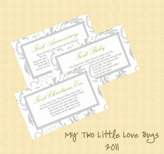 Bridal Shower Wine Basket Poem Tags Gift  by mytwolittlelovebugs, $12.00