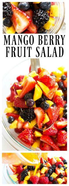 Mango Berry Fruit Salad