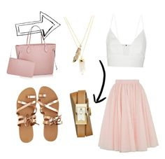 """""""Pink ice cream"""" by pinkoala on Polyvore featuring Ted Baker, Narciso Rodriguez, Tory Burch, KYMA and Privileged"""