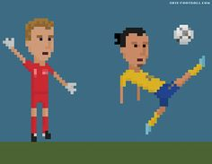 And a non-violent one. Zlatan's overhead kick against England by Matheus Toscano
