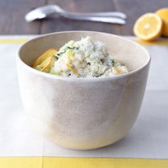 Meyer Lemon Risotto with Basil // More Great Risotto Recipes: http://www.foodandwine.com/slideshows/risotto #foodandwine