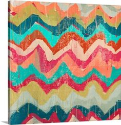 """Cynthia Alvarez's """"Hot Chevron"""" canvas print adds the perfect amount of color and flair to any room. See more eclectic patterns at GreatBIGCanvas.com."""