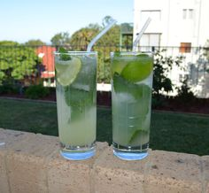 Lime and Mint Punch. Find out how I made it at http://www.whatscookingella.com/blog/lime-and-mint-punch
