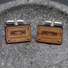 Wooden Cassette Cufflinks