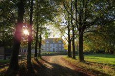 2014-11-02 Huize Boxbergen met mooie laan in de herfstzon