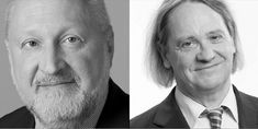 FAZ-Herausgeber Werner D'Inka und FNP-Chefredakteur a.D. Rainer Gefeller im Autorengespräch im Steigenberger Frankfurter Hof