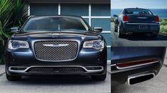 2015 Chrysler 300 full-size luxury car in Jazz Blue Pearl color...