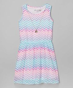 Another great find on #zulily! Orchid Chevron Dress & Necklace #zulilyfinds