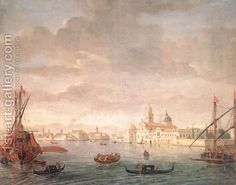 The Island of San Michele, Looking toward Murano 1700s by Caspar Andriaans Van Wittel