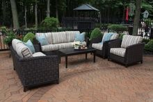 The Cassini Collection All Weather Wicker Deep Seating With Custom Sunbrella Cushions