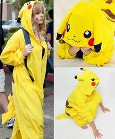 XL $15.88 Japan Anime Pikachu Pokemon Costume KIGURUMI Pajamas Hoodie Pyjamas Adult Romper | eBay