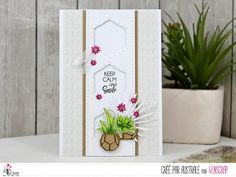 "Australe : Tampons & matrices de coupe (dies) #4enscrap ""Vamos a la playa"" Keep Calm And Smile, Tres Belle Photo, Planter Pots, Inspiration, Cards, Tampons, Card Ideas, Nature, Beach"