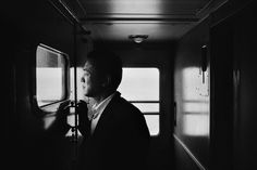 Klavdij Sluban :: Man at Trans Siberian railway, from Transibériades, ca.