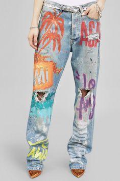 Faith Connexion Graffiti Boyfriend Jeans