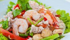 Insalata di terra e mare Diet Recipes, Healthy Recipes, Fish And Seafood, Pasta Salad, Potato Salad, Shrimp, Asian, Dishes, Meat