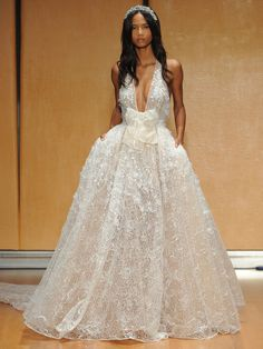 This gorgeously detailed Inbal Dror ballgown. | 27 Ridiculously Pretty Wedding Dresses To Look At While The World Burns