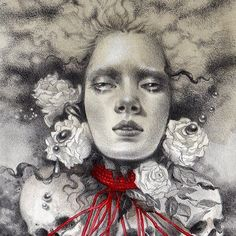 'The Fates' [Graphite & watercolour on hand-toned Fabriano paper] by @jel_ena_art in beautiful.bizarre issue 012 Get the beautiful.bizarre art quarterly IN PRINT VIA OUR STOCKISTS: http://ift.tt/ZtVEFU IN PRINT OR DIGITAL ONLINE: http://ift.tt/IUsDuk by beautifulbizarremagazine