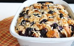 I've been toying with this recipe for quite some time, and I am finally happy enough with it to share with you. From the crunchy almonds on top, to the tart berries bursting throughout, to the rich...