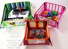 Chattering Robin's: Collapsible Paper Trays