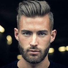 If you're into vintage cool hairstyles like pompadours and super slicked looks, you'll love our 25 favorite rockabilly and greaser hair styles for men. Hair And Beard Styles, Short Hair Styles, Greaser Hair, Fade Haircut, Haircut Men, Mens Undercut Hairstyle, Undercut Beard, Hommes Sexy, Short Hair Cuts For Women