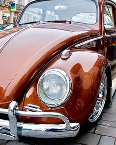 Classic VW - love this color! #hotrodsclassiccars