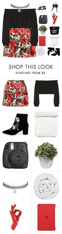 """""""We still got love to give"""" by xilahax ❤ liked on Polyvore featuring Dolce&Gabbana, Elizabeth and James, Steven, Fujifilm, Nearly Natural, The Fine Bedding Company, Thelermont Hupton, Apple and ilaha"""