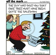 WATER / what a ( plonker ) ps at least he could get his wife WET for the first time since returning home from their honeymoon sex years ago / oops = SIX not sex years ago ! Cartoon Jokes, Funny Cat Memes, Funny Cartoons, Funny Comics, Funny Humor, Hilarious, Funny Christmas Cartoons, Christmas Humor, Christmas Trees