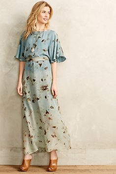 meadowland kimono dress - anthropologie