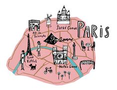 cartography, Image & iconography from the City of Lights. Paris by map & era. – Arran Q Henderson Oh Paris, Paris Map, I Love Paris, Paris France, Paris Chic, Paris Travel, Tour Eiffel, Travel Maps, Travel Posters