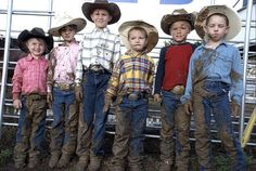 Mutten Busters Rodeo Texas Cowpokes Kids Children Busting Sheep Contestants Mud Arena Fence Johnson County Sheriff Posse Weatherford Cowboy Boots Hats Belt Buckles Blue Jeans 13508 by Dallas Photographer David Kozlowski, via Flickr